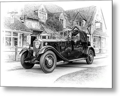 Vintage Rolls Royce  Metal Print by Tim Gainey