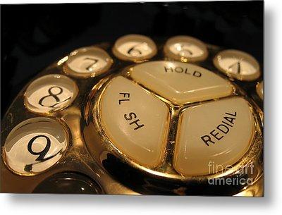 Vintage Rotary Dial Phone Metal Print by Yali Shi
