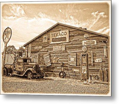 Vintage Service Station Metal Print