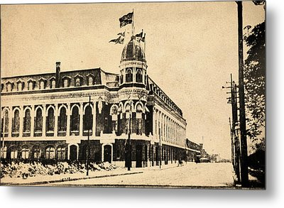 Vintage Shibe Park In Sepia Metal Print by Bill Cannon