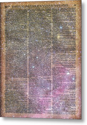 Vintage Space Dictionary Book Page Metal Print by Jacob Kuch