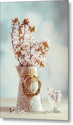 Vintage Spring Blossom Metal Print by Amanda Elwell