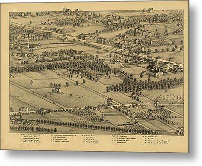 Vintage St Louis Map - 1875 Metal Print