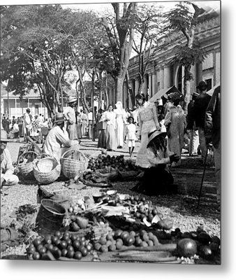 Vintage Street Scene In Ponce - Puerto Rico - C 1899 Metal Print by International  Images