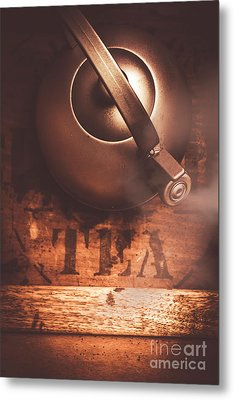 Vintage Tea Break Metal Print