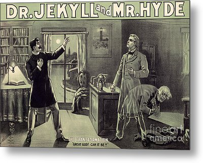 Vintage Theater Poster For A Performance Of Dr Jekyll And Mr Hyde In London Metal Print
