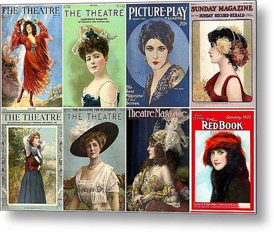 Vintage Theatre Magazine Covers Metal Print