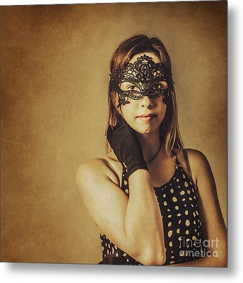 Vintage Theatre Show Girl  Metal Print by Jorgo Photography - Wall Art Gallery