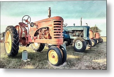 Vintage Tractors New Glasgow Pei Metal Print by Edward Fielding