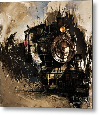 Vintage Train 06 Metal Print by Gull G