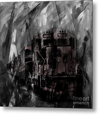 Vintage Train 07 Metal Print by Gull G