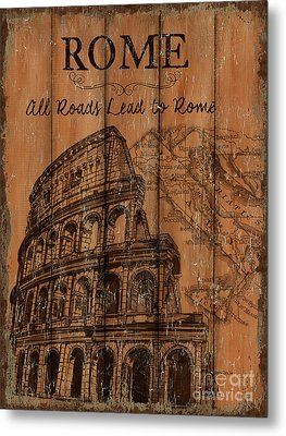 Vintage Travel Rome Metal Print by Debbie DeWitt