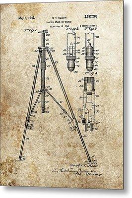 Vintage Tripod Patent Metal Print