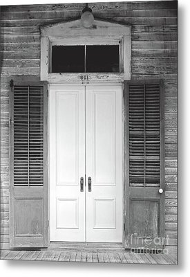 Metal Print featuring the photograph Vintage Tropical Weathered Key West Florida Doorway by John Stephens