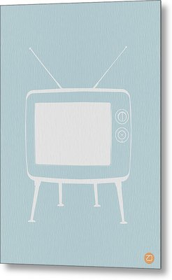 Vintage Tv Poster Metal Print by Naxart Studio