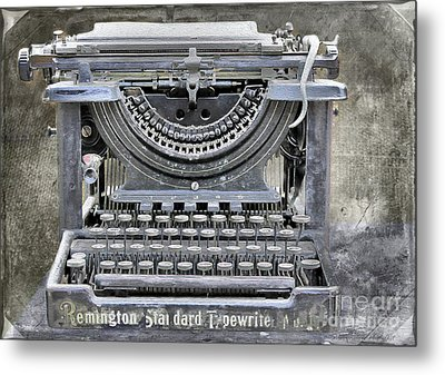 Vintage Typewriter Photo Paint Metal Print