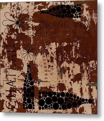 Vintage Wine Metal Print