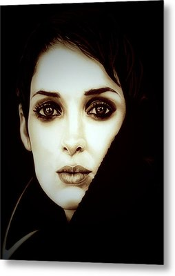 Vintage Winona Ryder Metal Print by Fred Larucci