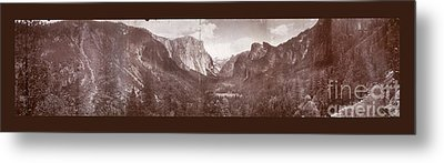 Metal Print featuring the photograph Vintage Yosemite Valley 1899 by John Stephens