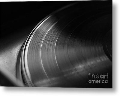 Vinyl Record And Turntable Metal Print