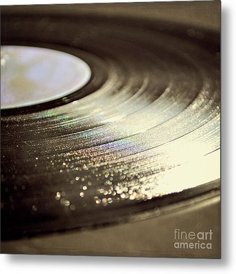 Vinyl Record Metal Print by Lyn Randle