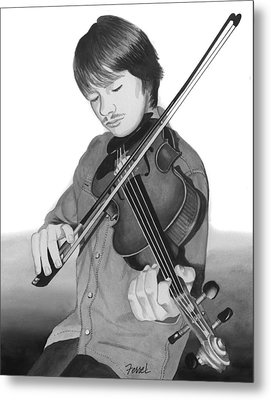 Metal Print featuring the painting Viola Master by Ferrel Cordle