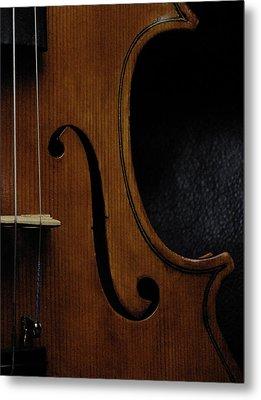 Viola No1 Half B Metal Print by Joseph Duba