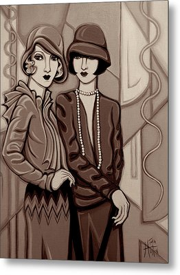 Violet And Rose In Sepia Tone Metal Print by Tara Hutton