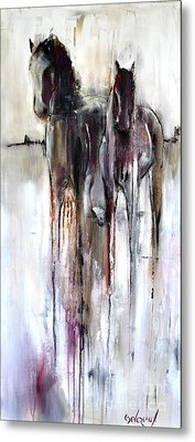 Metal Print featuring the painting Violet Mirage by Cher Devereaux