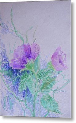 Violet Flowers Metal Print by Sharmila L
