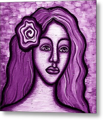 Violet Lady Metal Print by Brenda Higginson