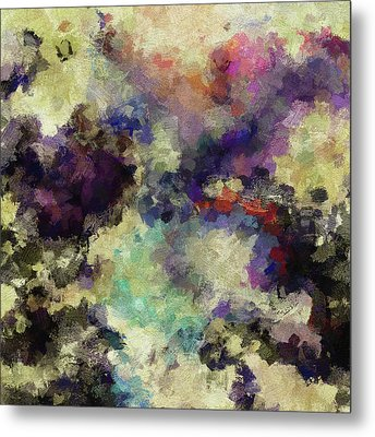 Metal Print featuring the painting Violet Landscape Painting by Ayse Deniz