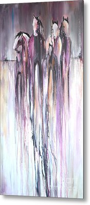 Metal Print featuring the painting Violet Mirage 2 by Cher Devereaux