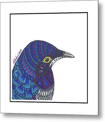Violet Starling #4 Metal Print by Allie Rowland