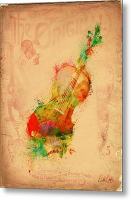 Violin Dreams Metal Print