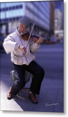 Violin Guy Metal Print