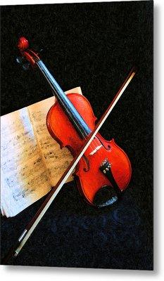 Violin Impression Metal Print by Kristin Elmquist