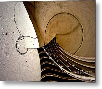 Violin In Abstract Metal Print