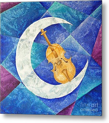 Violin-moon Metal Print by Son Of the Moon