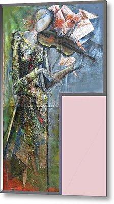 Violinist Woman Metal Print by Giorgi Kobiashvili