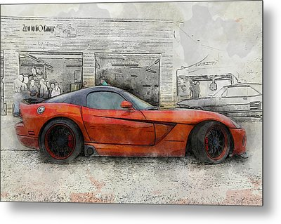Metal Print featuring the photograph Viper Zero To 60 by Joel Witmeyer