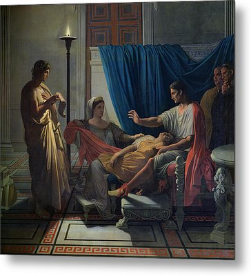 Virgil Reading The Aeneid Metal Print by Jean Auguste Dominique Ingres