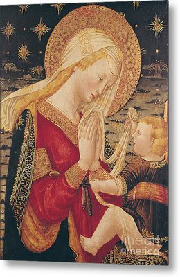 Virgin And Child  Metal Print by Neri di Bicci