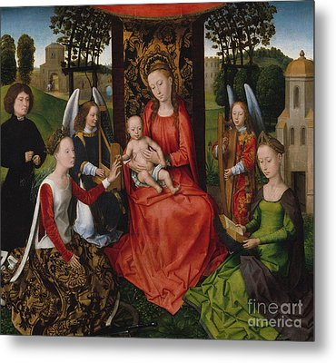 Virgin And Child With Saints Catherine Of Alexandria And Barbara, 1480 Metal Print