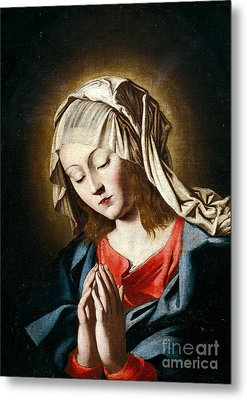 Virgin In Prayer Metal Print by Giovanni Battista Salvi da Sassoferrato