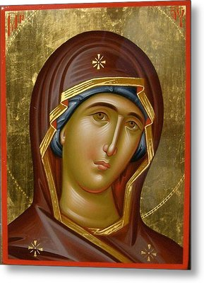 Virgin Mary Metal Print by Daniel Neculae