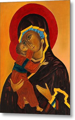 Virgin Mary With Baby Jesus Metal Print