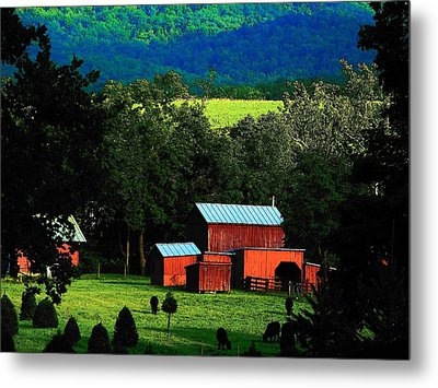 Virginia Valley View Metal Print by Joyce Kimble Smith