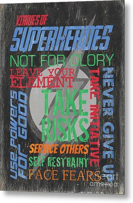 Virtues Of Superheroes Metal Print