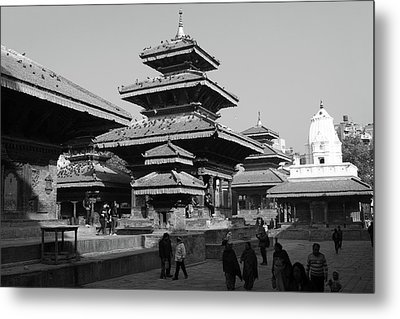 Vishnu Temple, Durbar Square, Kathmandu Metal Print